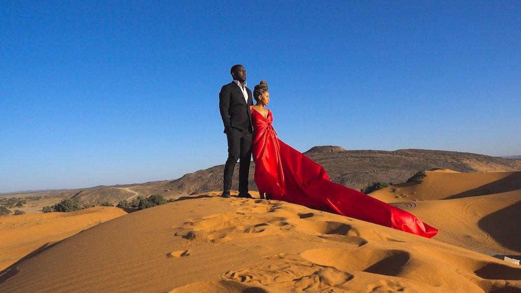Leslie and Martina - Sahara Desert, Morocco